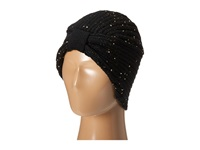 San Diego Hat Company Knh3376 Fine Knit Turban With Sequins Black Caps