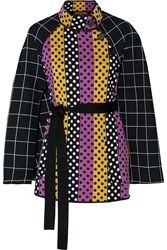 Duro Olowu Belted Intarsia Wool Cape
