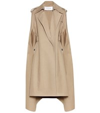 Valentino Cotton And Linen Blend Trench Coat Beige