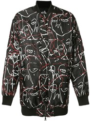 Haculla Abstract Print Bomber Jacket Black