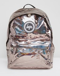 Hype Coffee Holographic Backpack Gold