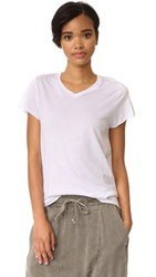 Zoe Karssen Loose Fit V Neck Tee Optical White