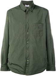 Aspesi Pointed Collar Shirt Green