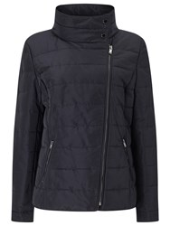Windsmoor Asymmetric Short Quilt Jacket Navy