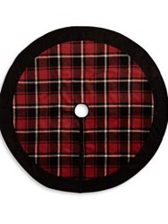 Glucksteinhome Plaid Tree Skirt Red Black