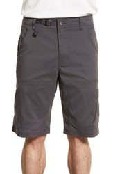 Men's Prana 'Zion' Stretchy Hiking Shorts Charcoal