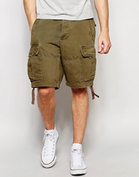 Abercrombie And Fitch Cargo Short In Olive Olive Green