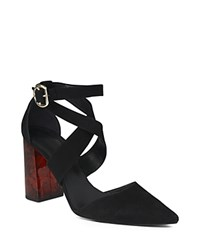 Whistles Taylor Crisscross Marble Heel Pumps Black