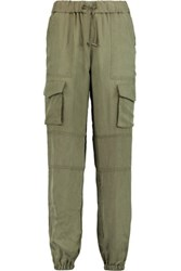 Bailey 44 Washed Twill Tapered Pants Army Green