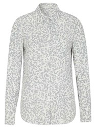 Oui Leopard Print Shirt White Grey