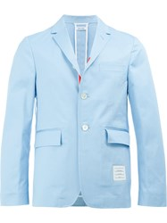 Thom Browne Cropped Sleeve Blazer Blue