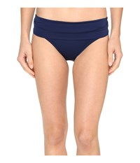 Jantzen Solids Shirred Waist Bottom Nocturne Blue Women's Swimwear Navy