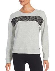 Marc New York Tie Neck Sweatshirt Light Grey Heather