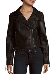 Romeo And Juliet Couture Notch Collar Asymmetric Zipper Jacket Black