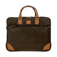 Bric's Life Large Business Briefcase Olive