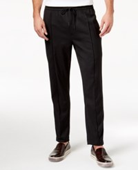 Kenneth Cole New York Men's Cropped Knit Jogger Pants Black