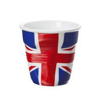 Revol Crumple Flag Cup Uk Cappuccino 8.5 Cm