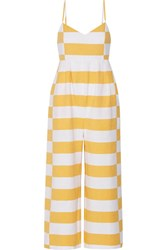 Mara Hoffman Striped Organic Cotton Jumpsuit Marigold