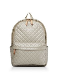 M Z Wallace Metro Quilted Back Pack Light Beige