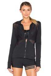 Trina Turk Lazer Cuts Solids Jacket Black