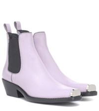 Calvin Klein 205W39nyc Western Claire Leather Ankle Boots Purple