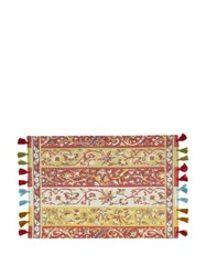 D'ascoli Set Of Four Shawl Tassel Trimmed Placemats Multi