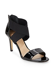 Saks Fifth Avenue Deidra Patent Leather Sandals Black