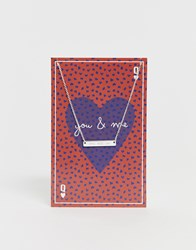 Pieces Sille Engraved Love Is All Valentines Giftcard Necklace. Multi