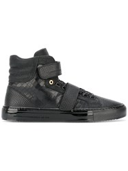 Android Homme Strap Over Panelled Sneakers Men Leather Rubber 41 Black