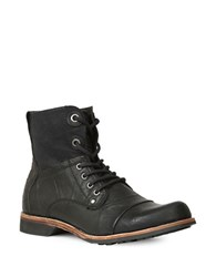 Gbx Griff Cap Toe Leather Boots Black