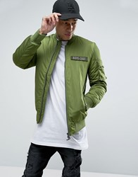 Dxpe Chef Bomber Jacket With Military Patches Khaki Green