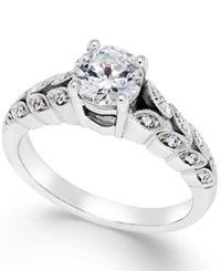Macy's Certified Diamond Engagement Ring In 14K White Gold 1 1 10 Ct. T.W.