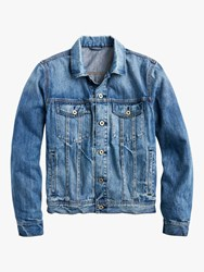 J.Crew Classic Denim Jacket Medium Worn