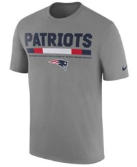 Nike Men's New England Patriots Legend Staff T Shirt Heather Gray