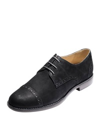 Gramercy Cap Toe Nubuck Oxford Black Cole Haan