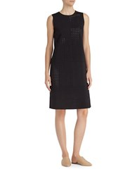 Lafayette 148 New York Elias Laser Cutout Dress Black
