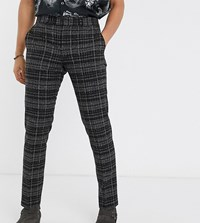 Heart And Dagger Super Skinny Trouser In Check Grey