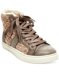 Madden Girl Madden Girl Everest High Top Sneakers Women's Shoes Taupe