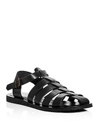 Kenneth Cole 4 Reel Strappy Fisherman Sandals Black