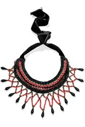Etro Crystal And Bead Necklace Black