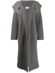 Zadig And Voltaire Fashion Show Lisandre Cardi Coat Grey