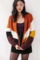 Ecote Mountain Top Cardigan Orange