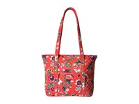 Vera Bradley Iconic Small Tote Coral Floral Tote Handbags Pink