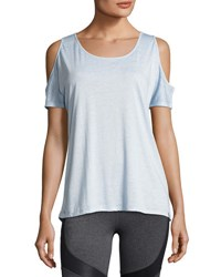Marc New York Cold Shoulder Jersey Tee Light Blue