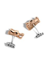 John Hardy Dragon Legend Cuff Links Silver
