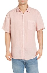 Original Paperbacks Men's Rome Trim Fit Sport Shirt Petal