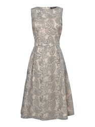 Pied A Terre Jacquard Dress Silver