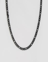 Asos Chunky Chain Necklace In Matt Black Black