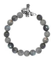 King Baby Studio Labradorite Sterling Silver Beaded Toggle Bracelet