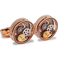 Tateossian Gear Rose Gold Plated Cufflinks Rose Gold